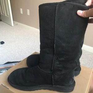 Ugg boots black tall. 7 US.
